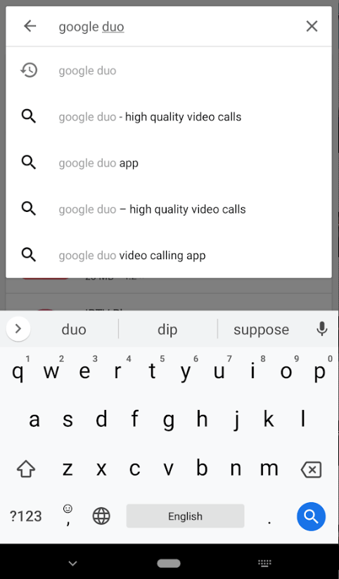 Search for Google Duo