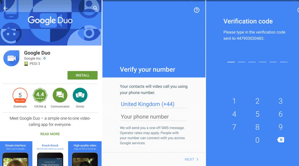 Google Duo Verification