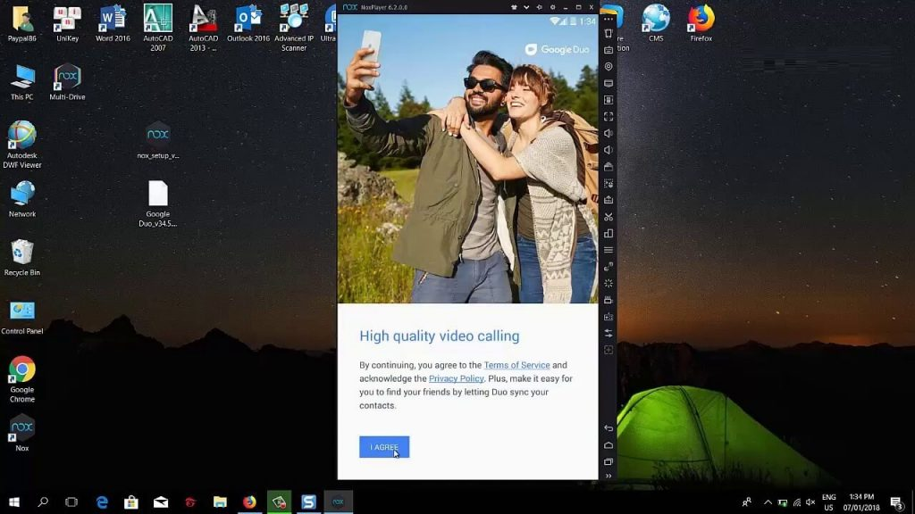 Launch Google Duo for PC using Nox Player