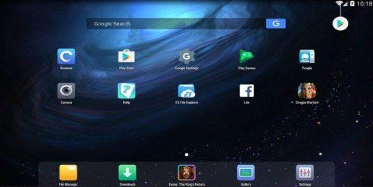Nox Player Home Screen