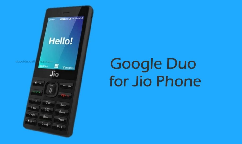 Google Duo for Jio Phone